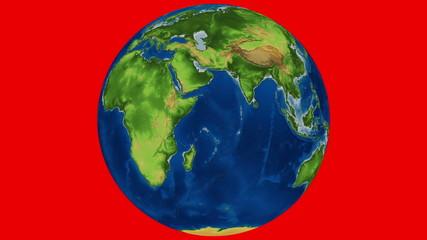 Earth Rotation Chroma Key Looped