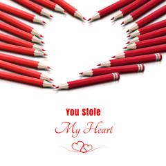 Miłosna kartka na dzień zakochanych