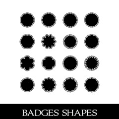 Badges shapes, symmetrical designs and shapes for emblems, set 2