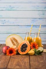 Exotic fruits detox smoothie