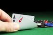 Poker Aces pair - 76385193