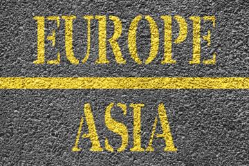 Europe Asia Border