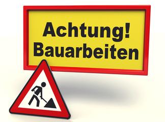 Achtung ! Bauarbeiten