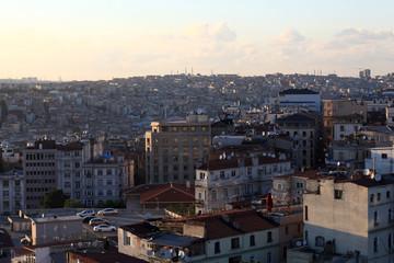 Skyline of Istanbul city