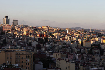 View of Istanbul city from Galata Tower