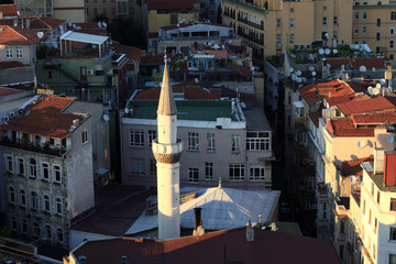 View of minaret from Galata Tower