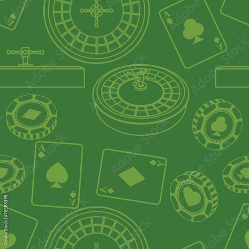 Seamless casino pattern - 76386395