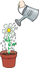 Watering trust and values
