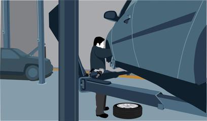 Mechanic silhouette