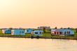 Dutch camping site during sundown