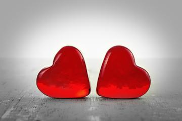 Zwei Rote Herzen ©yvonneweis