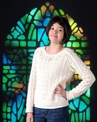 Pretty Tween in Church