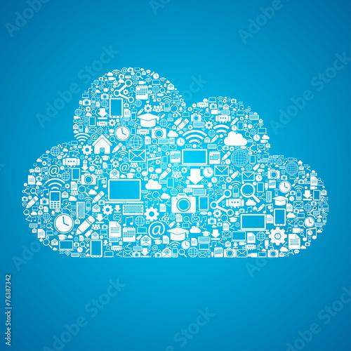 Mobile cloud connection - 76387342