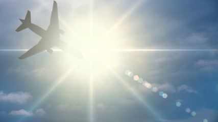 Aircraft Flies Through the Sun