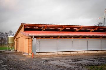 Neubau eines modernen Aussenklimastalles für Rinder
