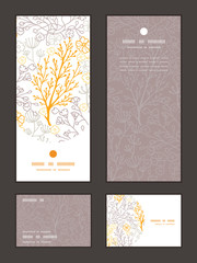 Vector magical floral vertical frame pattern invitation greeting