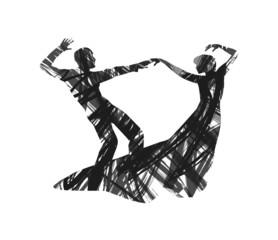 silhouette astratta di ballerini