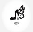Logo shoe store, shop, fashion collection, boutique label. - 76388530