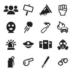 Demonstration Or Protest Icons