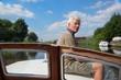 Man sitting on boat