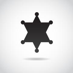 Police star vector icon.