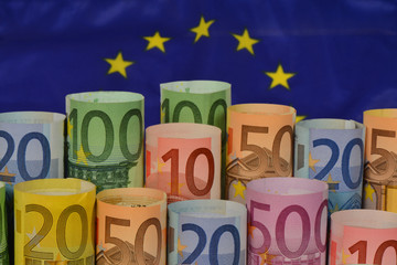 Banknoten, Euro, Europäische Union, Währungsunion, Finanzen