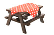 wooden picnic table - 76389196