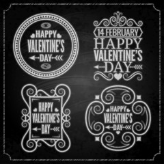 valentines day chalk set