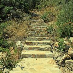 old stone steps, Greece