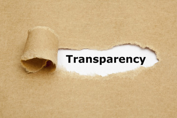 Transparency Torn Paper Concept