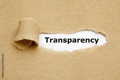 Leinwanddruck Bild Transparency Torn Paper Concept