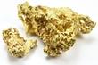 Goldnuggets aus Queensland/ Australien isoliert auf weißem Hintergrund - 76389756