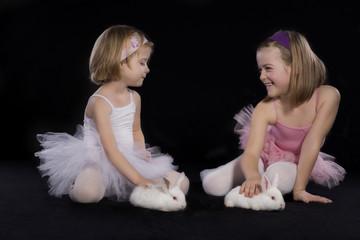 Ballerinas and rabbit