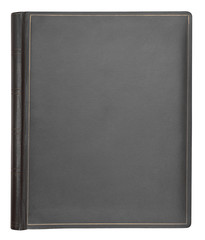 Gray leather hardcover book