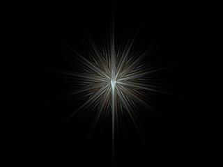 Abstract metallic silver frozen star symbol