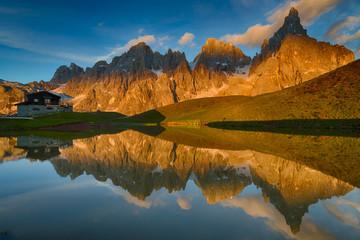 Baita Segantini in Dolomites