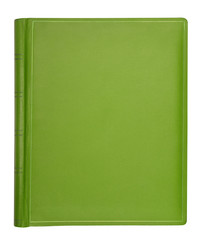 Green leather hardcover book