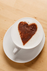 cappuccino with heart