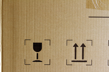 Freight symbols on box