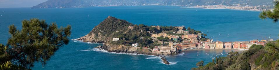 """Panorama of Sestri Levante """"baia del silenzio"""""""