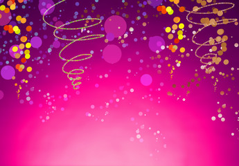 Festive Decorated Background with Copy Space