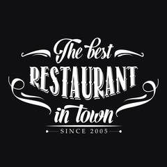 retro restaurant poster