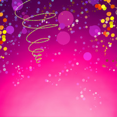 Abstract Carnival Background on Gradient Purple