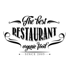 retro organic food  restaurant poster