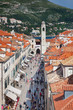 View on Stradun and the Bell tower from old city walls