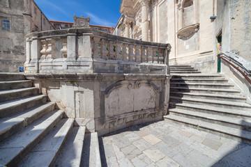 Jesuits staircase in Dubrovnik, Croatia.
