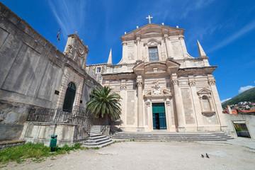 Jesuit Church of St. Ignatius in Dubrovnik, Croatia.