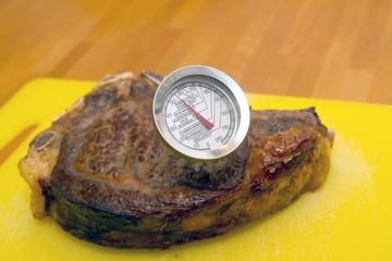 Steak mit Bratenthermometer