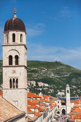 View on Franciscan Monastery tower and Bell tower from old city