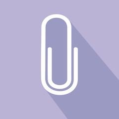 Icono clip lila sombra